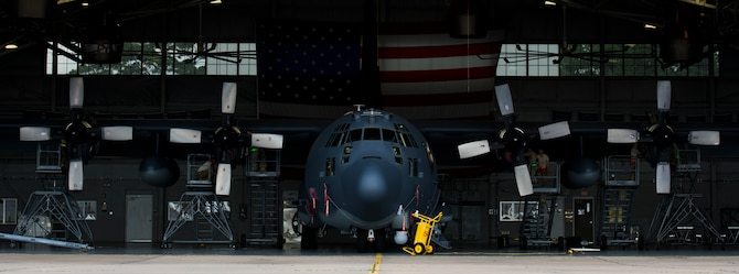 Aerospace propulsion technicians with the 1st Special Operations Aircraft Maintenance Squadron conducted maintenance on an AC-130U Spooky gunship here, July 6, 2017. Aerospace propulsion technicians test, maintain and repair AC-130U engines, preparing them to execute the mission any time, any place. The AC-130U is one of the Air Force's premiere multi-role aircraft. It is used for missions such as close air support, air interdiction and armed reconnaissance. (U.S. Air Force photo by Airman 1st Class Joseph Pick)