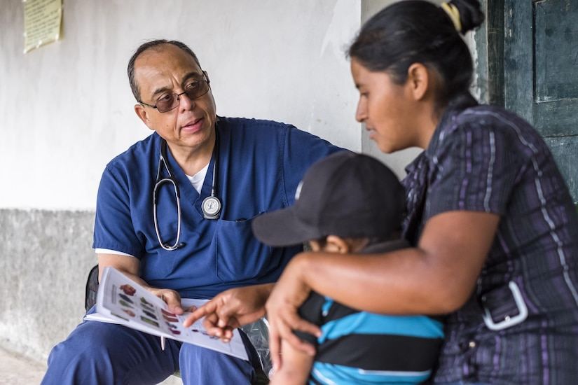 Joint Task Force – Bravo Medical Element personnel participated in a pediatric nutritional assessment mission as members of a joint team with the Honduran Ministry of Health to assess the nutritional status of children from the ages of 6 months to 60 months in the San Antonio area of La Paz, Honduras, Jun 14 - 15, 2017.