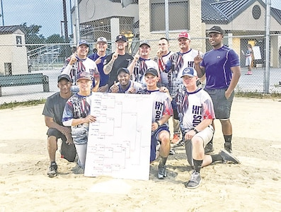 Soldiers from the 82nd Brigade Engineer Battalion, 2nd Armored Brigade Combat Team, 1st Infantry Division, took first place in the Midnight Madness Softball Tournament, which was originally scheduled June 16, but due to weather was postponed. The team finished on top June 20 with a final score of 16-9.