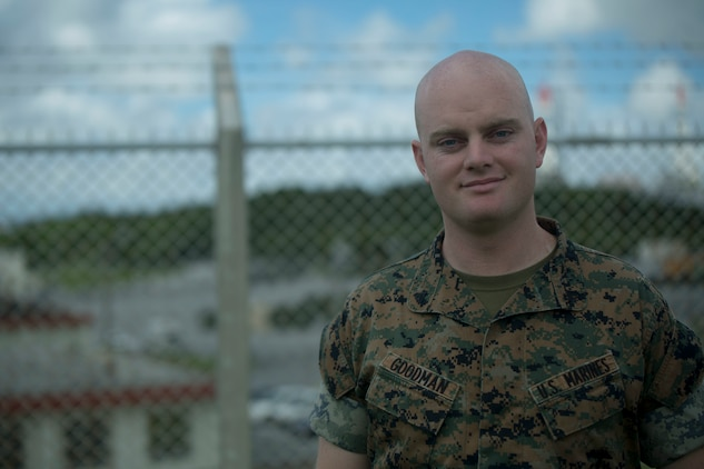 U.S. Marine Cpl. Eric Goodman was one of the five Marines to assist a local Japanese woman on his way down Mount Fuji, Japan, July 3, 2017. The woman, Oda Moe, was found lying on the ground,  hyperventilating and struggling to breathe when the Marines came to her assistance. Together, they created a makeshift stretcher to carry her down approximately two miles to get to medical assistance. Goodman, a 26 year old, Grass Valley, California  native, is a ground radio repairman with Electronics Maintenance Company, 3d Maintenance Battalion, Combat Logistics Regiment 35, 3d Marine Logistics Group, III Marine Expeditionary Force.