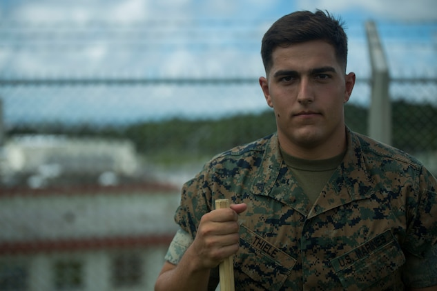 U.S. Marine Cpl. Otto Thiele was one of the five Marines to assist a local Japanese woman on his way down Mount Fuji, Japan, July 3, 2017. The woman, Oda Moe, was found lying on the ground,  hyperventilating and struggling to breathe when the Marines came to her assistance. Thiele made the original call to the emergency line to alert them about the situation. Together, they created a makeshift stretcher to carry her down approximately two miles to get to medical assistance. Thiele, a 21 year old, St. Charles, Missouri  native, is a micro miniature repairman with Electronics Maintenance Company, 3d Maintenance Battalion, Combat Logistics Regiment 35, 3d Marine Logistics Group, III Marine Expeditionary Force.