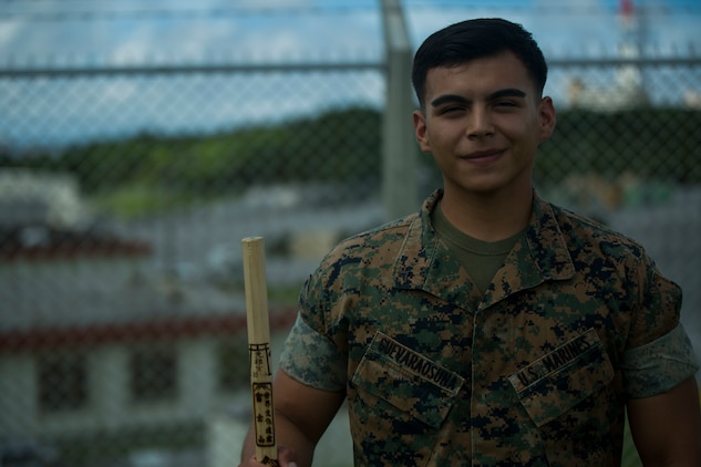 U.S.  Marine Lance Cpl. Avelardo Guevera Osuna was one of the five Marines to assist a local Japanese woman on his way down Mount Fuji, Japan, July 3, 2017. The woman, Oda Moe, was found lying on the ground,  hyperventilating and struggling to breathe when the Marines came to her assistance. Together, they created a makeshift stretcher to carry her down approximately two miles  to get to medical assistance. Guevera Osuna, a 21 year old, Las Vegas, Nevada native, is a ground radio repairman with Electronics Maintenance Company, 3d Maintenance Battalion, Combat Logistics Regiment 35, 3d Marine Logistics Group, III Marine Expeditionary Force.
