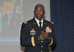 Defense Logistics Agency Director Army Lt. Gen. Darrell Williams speaks to the DLA Headquarters workforce about his personal and professional goals.