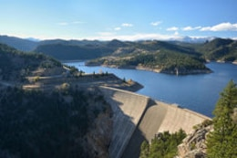 Gross Reservoir dam, Boulder County, Colorado.