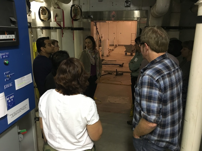 Research Materials Engineer Dr. Emily Asenath-Smith shows renovated rooms within the Cold Regions Research and Engineering Laboratory's Coldroom Complex that have been cleared and are being prepared for the arrival of cold units, which will serve as cold rooms.