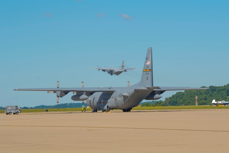 Members of the 130th Airlift Wing, McLaughlin Air National Guard Base, Charleston, W.Va., leave for an Aerospace Expeditionary Force (AEF) deployment in support of Operation Freedom's Sentinel June 27, 2017. More than 100 members of the wing will be providing tactical airlift, maintenance and medical support, among other critical tasks, during their deployment. (U.S. Air National Guard photo by Staff Sgt. Adam Juchniewicz)