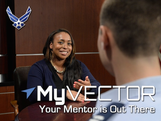 MyVector is an enterprise solution supporting force development and mentoring across the Air Force. It supports individual Airmen, career field managers and development teams. More than 120,000 Airmen have registered in MyVector and more than 15,000 Airmen have created a mentor profile. (Photo Illustration/Vernon Greene)