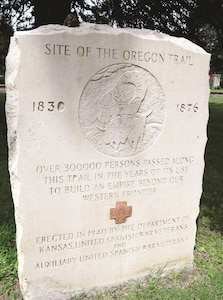 An Oregon Trail Marker providing a brief history of St. Mary's role during the westward expansion is located on U.S. Highway 24 near the entrance to the college. When gold was found in the west in 1847 to 1857, settlers and gold miners were eager to start a new life. As they traveled down the Independence branch of the Oregon-California Trail, one of the final stops they'd make was at a small settlement later incorporated into the town of St. Mary's on 1869.
