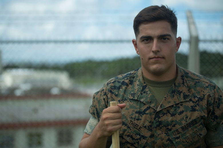 U.S. Marine Cpl. Otto Thiele was one of the five Marines to assist a local Japanese woman on his way down Mount Fuji, Japan, July 3, 2017. The woman, Moe Oda, was found lying on the ground,  hyperventilating and struggling to breathe when the Marines came to her assistance. Thiele made the original call to the emergency line to alert them about the situation. Together, they created a makeshift stretcher to carry her down approximately two miles to get to medical assistance. Thiele, a 21 year old, St. Charles, Missouri  native, is a micro miniature repairman with Electronics Maintenance Company, 3d Maintenance Battalion, Combat Logistics Regiment 35, 3d Marine Logistics Group, III Marine Expeditionary Force.
