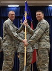 U.S. Air Force Lt. Col. David Stevenson (right), 39th Communications Squadron incoming commander, assumes command from Col. Todd Stratton, 39th Mission Support Group commander, July 6, 2017, at Incirlik Air Base, Turkey. A change of command is a tradition that represents the formal transfer of authority from the outgoing commander to the incoming commander. (U.S. Air Force photo by Senior Airman Jasmonet D. Jackson)
