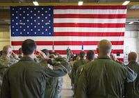 Airmen in the 301st Operations Group salute their new commander during an assumption of command ceremony July 8, 2017, at Naval Air Station Fort Worth Joint Reserve Base, Texas. The group directs the training of assigned personnel to a high-level of combat readiness assuring immediate mobilization, worldwide deployment, employment of the F-16C+ Fighting Falcon's unique precision group attack and offensive capability while maintaining constant vigilance at home and abroad.