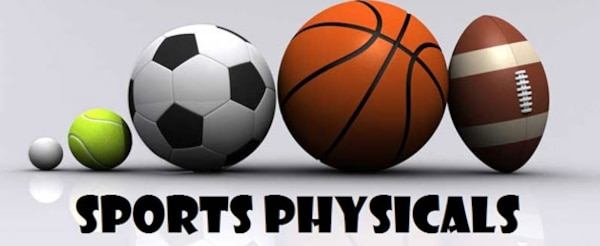 Sports physical appointments will be available to schedule beginning, June 26 and can be booked by calling the central appointment line at 916-9900, Monday – Friday between 6:30 a.m. and 4:30 p.m.