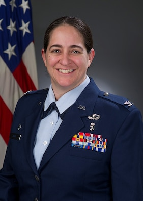 Col. Rachel Hight, 60th Surgical Operations Squadron commander, shares some insight on maintaining a positive vision and how beneficial that can be. (U.S. Air Force photo)