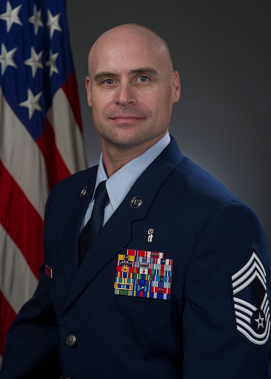 Chief Master Sgt. Patrick Scheuer, 60th Surgical Operations Squadron, shares some leadership insight. (U.S. Air Force photo)