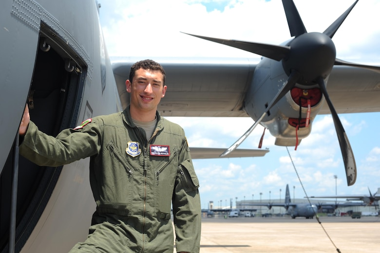 Senior Airman Dillon Reynolds, 41st Airlift Squadron C-130J instructor loadmaster, is nominated for the Combat Airlifter of the Week July 7, 2017, at Little Rock Air Force Base, Ark. Reynolds was selected for his efforts during a humanitarian relief mission in Peru. (U.S. Air Force photo by Airman 1st Class Grace Nichols)