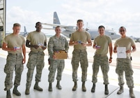 An unexpected treat arrives at the 934th July 10 as snacks from employees at the AT&T call centers arrived to express thanks to our Airmen as part of Military Appreciation Month. (Air Force Photo/Paul Zadach)