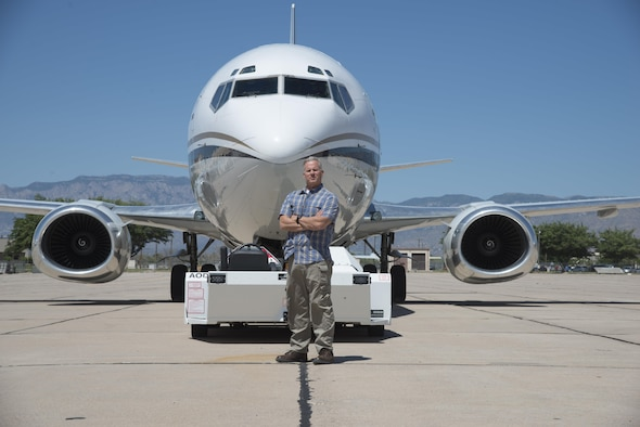 Col. Mark Arnholt, the Individual Mobilization Augmentee to the Air Force Nuclear Weapons Center vice commander, pilots a 747-400 COMBI nuclear alert aircraft for the National Nuclear Security Administration as a civilian.