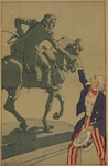 Uncle Sam shakes hands with the Marquis de Lafayette in this 1917 French poster produced around the time the United States entered WWI. Library of Congress photo