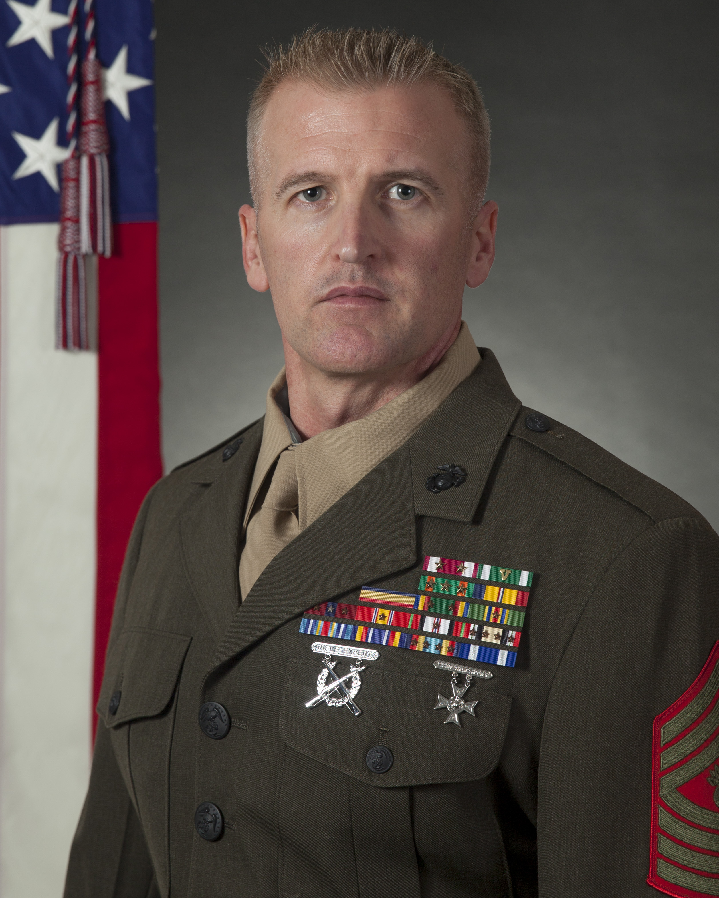 Master Gunnery Sergeant Lance C. Baughman > Installations ...