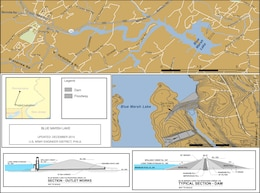 Project Index Map for Blue Marsh Lake