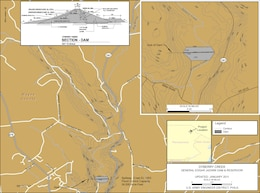 Project Index Map for General Edgar Jadwin Dam