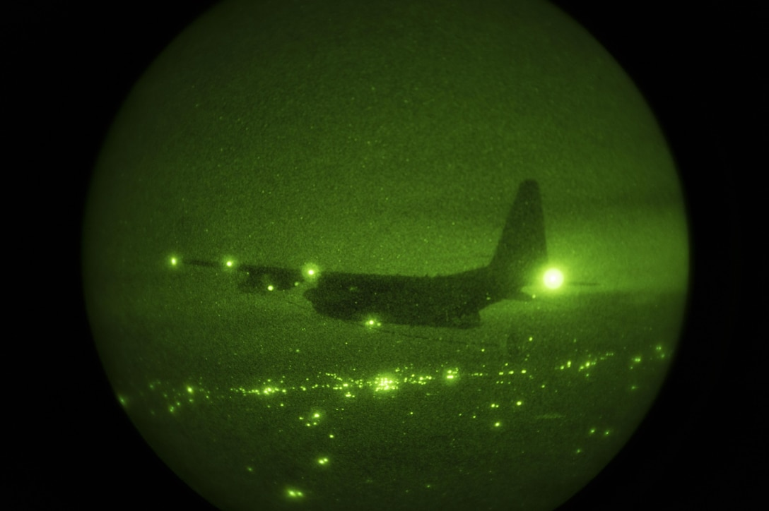 A 15th Special Operations Squadron MC-130H Combat Talon II conducts an air-to-air refueling mission during Total Force Exercise 17-3 above Indiana, July 9, 2017. The Combat Talon II refueled three 8th SOS CV-22s during the mission, training on a vital capability to guarantee Air Force Special Operations Command's global reach capability. (U.S. Air Force photo by Airman 1st Class Joseph Pick)