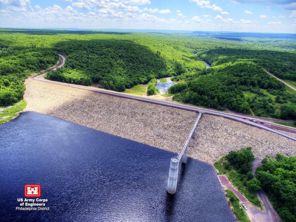 The Francis E. Walter Dam was constructed by the U.S. Army Corps of Engineers in 1961 and has prevented more than $220 million in flood damages.