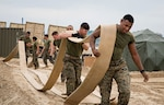 Marines attached to 3rd Transportation Support Battalion, 3rd Marine Logistic Group, move a hose reel system during Operation Pacific Reach Exercise 2017 (OPRex17). OPRex17 is a bilateral training event designed to ensure readiness and sustain the ROK-U.S. Alliance by exercising an Area Distribution Center (ADC), an Air Terminal Supply Point (ATSP), Combined Joint Logistics Over-the-Shore (CJLOTS), and the use of rail, inland waterways, and coastal lift operations to validate the operational reach concept.