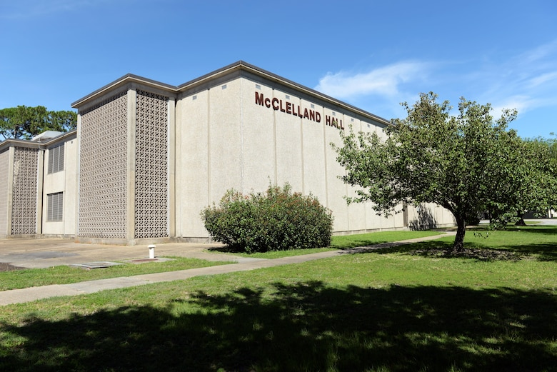 McClelland Hall is currently undergoing renovation and will be take approximately one year for completion. It will be another schoolhouse for the 333rd Training Squadron, and is located on the corner of Hangar Rd. and E St., Bldg. 2818. (U.S. Air Force photo by 2nd Lt. Toney Doan)