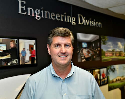 """U.S. Army Corps of Engineers, Mobile District, Senior Cost Engineer Michael L. Keating has earned the national-level Corps """"Cost Engineer of the Year"""" award."""
