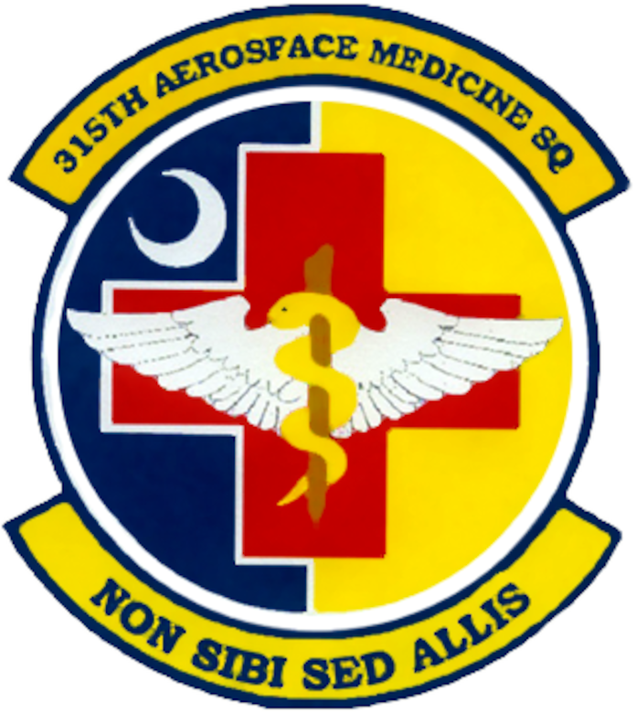 315th Aerospace Medicine Squadron Patch (U.S. Air Force Graphic)