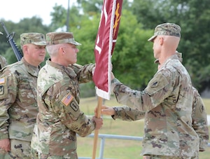 Lt. Col. James L. Pulliam assumed command of the 188th Medical Battalion at a ceremony held at the AMEDD Museum. LTC Pulliam is only the second commander of the 188th MED BN, formally the Academy Battalion Provisional, which was renamed on June 1, 2017. Former commander LTC Amy L. Jackson took command two years ago when the battalion first was stood up as part of an AMEDDC&S reorganization.