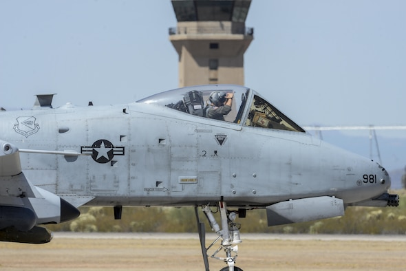A U.S. Air Force A-10C Thunderbolt II assigned to the 354th Fighter Squadron, prepares to take off at Davis-Monthan Air Force Base, Ariz., July 14, 2017. The A-10 has provided close air support in worldwide operations for the past three decades. (U.S. Air Force photo by Senior Airman Mya M. Crosby)