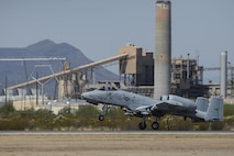 A U.S. Air Force A-10C Thunderbolt II assigned to the 354th Fighter Squadron takes off from Davis-Monthan Air Force Base, Ariz., July 14, 2017. The A-10 weighs approximately 29,000 pounds, with a maxium takeoff weight of 51,000 pounds and a fuel capacity of 11,000 pounds. (U.S. Air Force photo by Senior Airman Mya M. Crosby)