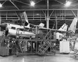 A-7 line in Bldg. 3001 circa April 1982. (Courtesy photo)