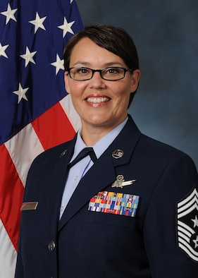 Chief Master Sgt. Amber Mitchell is the new 341st Missile Wing command chief. Mitchell is the primary advisor to the commander on matters concerning the readiness, morale, health, welfare, and discipline for nearly 4,000 military members who support the nation's nuclear surety objectives by operating, maintaining, and securing 150 Minuteman III intercontinental ballistic missiles. (U.S. Air Force photo)