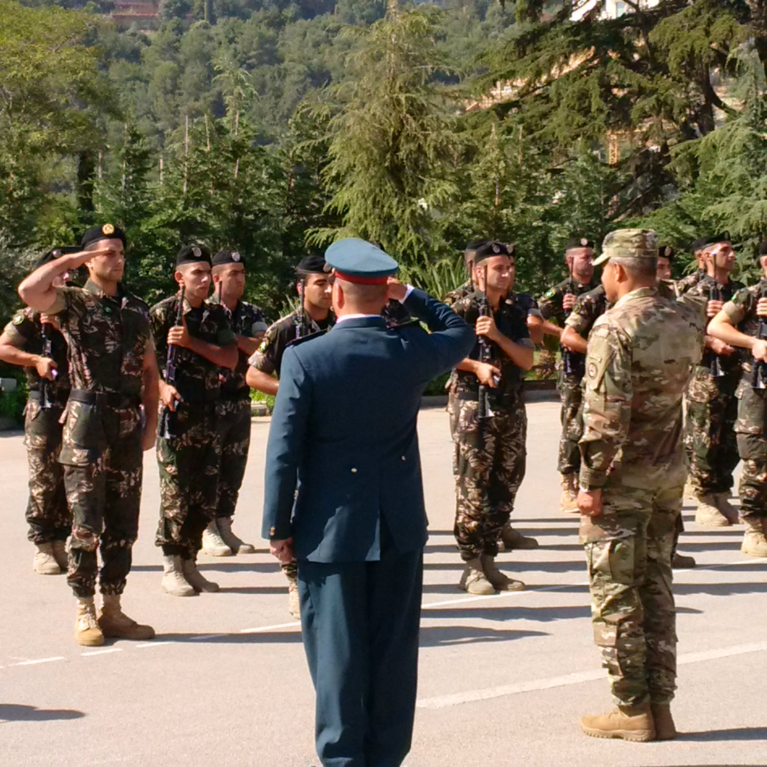 The laf are partners with usarcent and visits such as this strengthen relationships interoperability and shapes and sets the theater to support operations