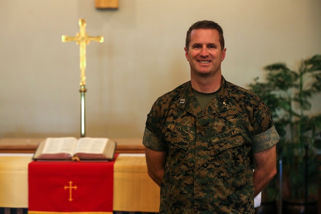 Lt. Rick Shaffer, command chaplain, Headquarters Battalion, decided to become a Navy chaplain to help the men and women who serve our nation. Whether it is helping through faith or not, he is always willing to extend a helping hand. (U.S. Marine Corps photo by Cpl. Dave Flores)