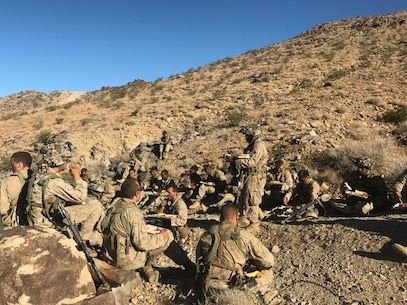 Company E training exercise at the National Training Center, Fort Irwin, Calif.