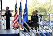 Col. Michael Donahue assumes command of the 82nd Training Group, July 17, 2017. (U.S. Air Force photo by Senior Airman Robert L. McIlrath)