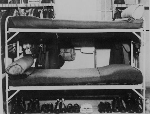 Basic training bunk layout during World War II at Buckley Field. (Courtesy Photo)