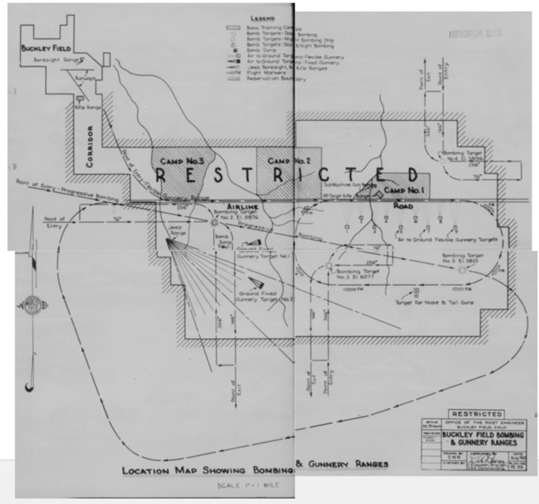 A map of Buckley Field during World War II. (Courtesy Photo)