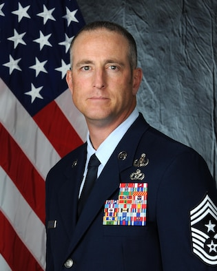 Official photo of Chief Master Sgt. Heath T. Tempel, 435th Air Ground Operations Wing and 435th Air Expeditionary Wing command chief.