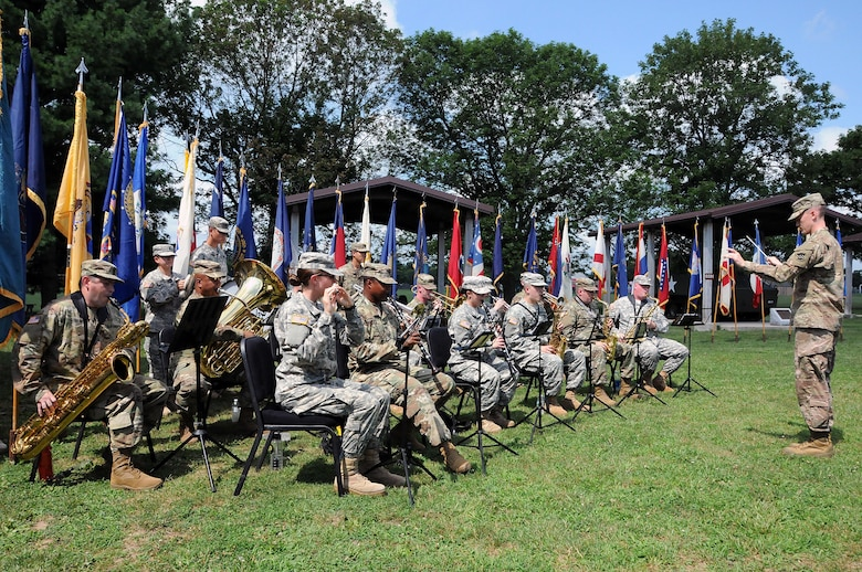 "Soldiers from the U.S. Army Reserve's 78th Army Band and 319th Army Band perform music July 18 during the Dix Centennial celebration at Joint Base McGuire-Dix-Lakehurst, New Jersey.  Camp Dix provided key support to the Army and the nation from its inception in 1917 until its re-designation as ""Fort Dix"" in 1939.  On Oct. 1, 2009, Fort Dix transformed into the United States Army Support Activity, Fort Dix and became part of Joint Base McGuire-Dix-Lakehurst.  More than 42,000 active-duty and reserve-component service members, civilian employees and family members work and reside on the base."