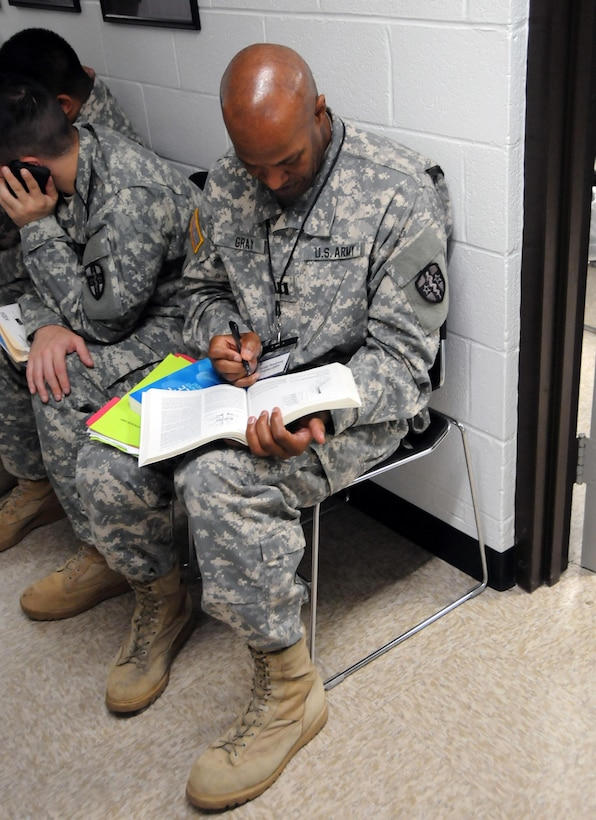 Capt. James Gray, a physician assistant assigned to the 7452nd Medical Backfill Battalion, has been identified to prepare for a Professional Filler System (PROFIS) mission.  Soldiers mobilized to support this mission will backfill Medical Command's active duty slots at medical centers and clinics across their health care organization.  Army Medical Department Professional Management Command (APMC) hosted the Soldier Readiness Processing (SRP) level 2 from 7-9 Jul., processing approximately 100 U.S. Army Reserve Soldiers from the 7452nd MBB during the 3-day event. The objective of the process is for Soldiers to be administratively, financially, legally, spiritually, logistically and medically ready to be mobilized after attending an SRP.