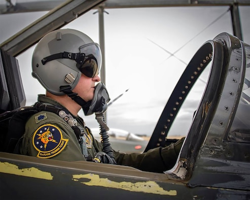 "Even though the pilot shortage is hitting fighter units the hardest, it is also having an impact on other flying organizations as well, including training squadrons like the 5th Flying Training Squadron at Vance Air Force Base, Oklahoma, where Lt. Col. Darren ""Shead"" McTee, a T-38 instructor pilot, is assigned. (Courtesy photo)"