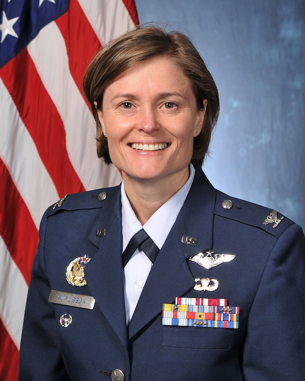 Col. Angela Suplisson, Air Force Test Center vice commander.