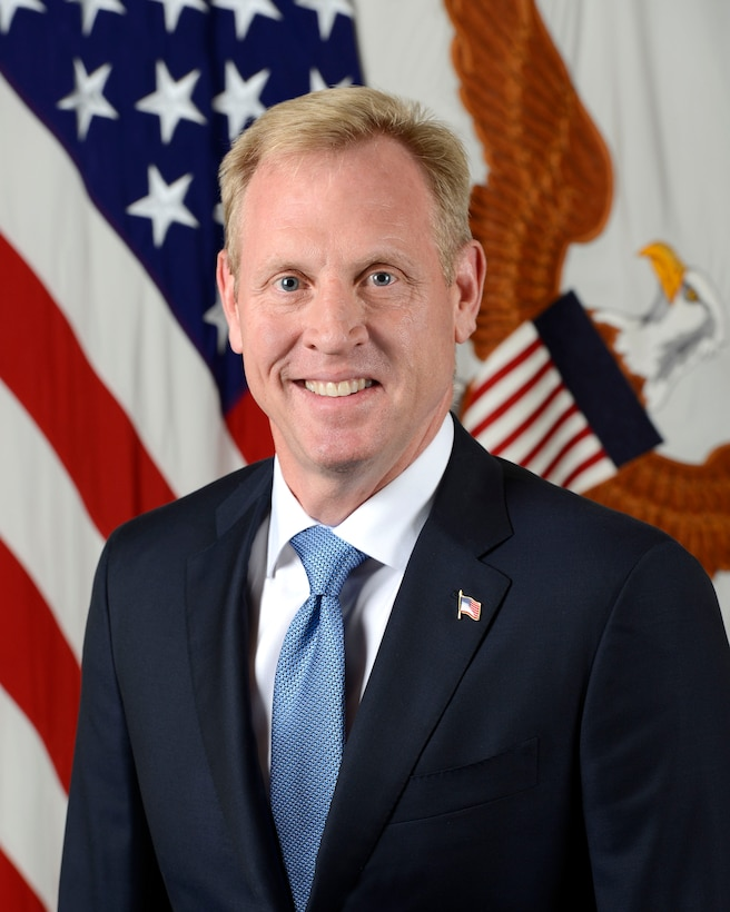 Patrick M. Shanahan, Deputy Secretary of Defense, poses for his official portrait in the Army portrait studio at the Pentagon in Arlington, Virginia, July 19, 2017.  (U.S. Army photo by Monica King/Released)