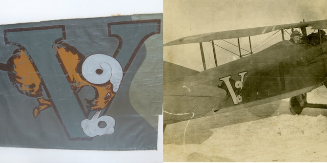 Aircraft Insigne, 138th Aero Squadron(left) SPAD aircraft of the 138th Aero Squadron, France(right).