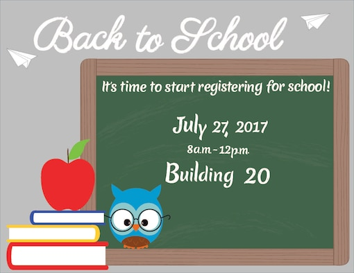 Schriever helping agencies and other organizations are ready to prepare kids on and off base for the start of the school year with a free back to school event in building 20 July 27. (Courtesy graphic)